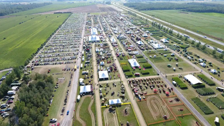 Helicopter view of the Expo-Champs of in the Montérégie